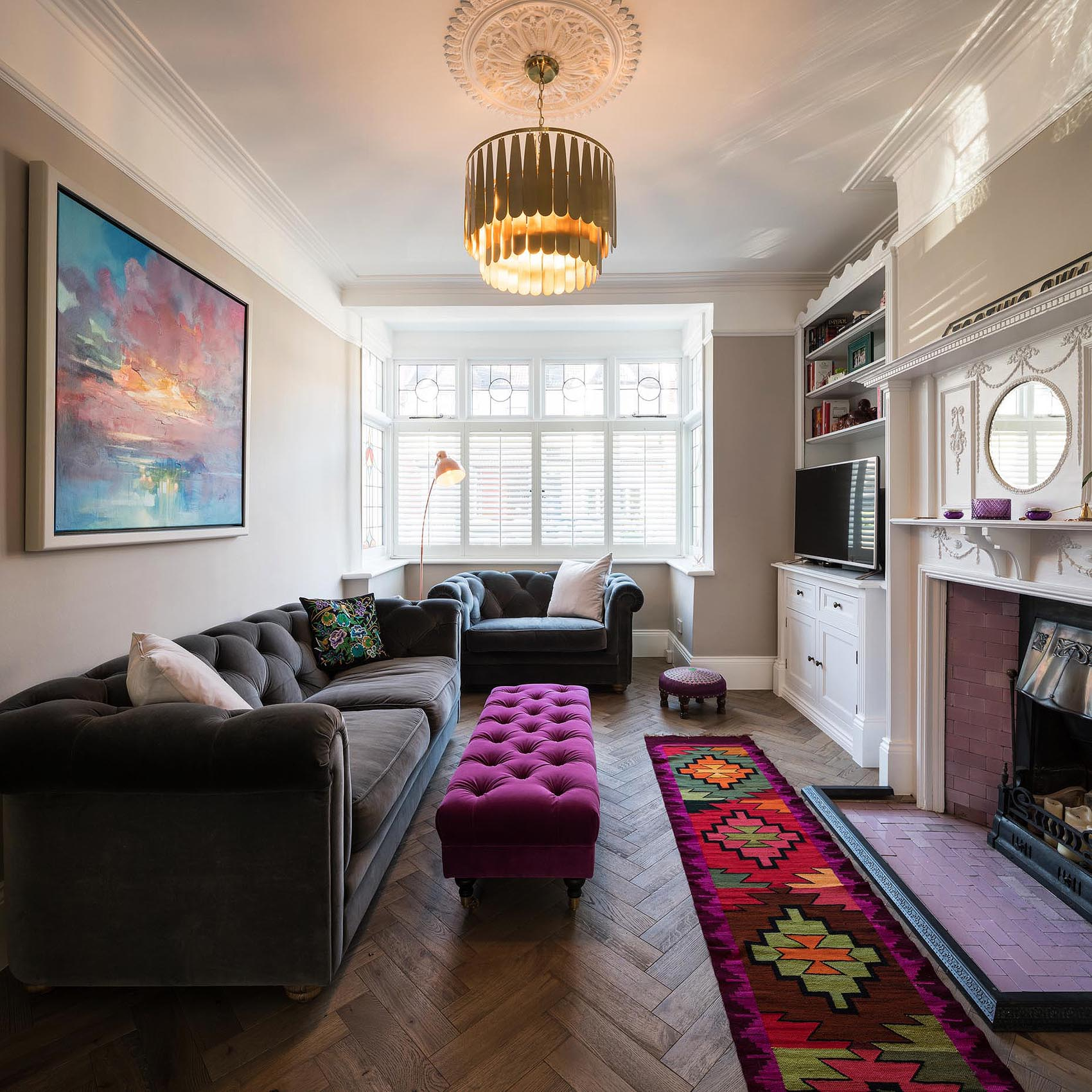 living-room-velvet-colour-herringbone-floor-interior-photographer-london-uk