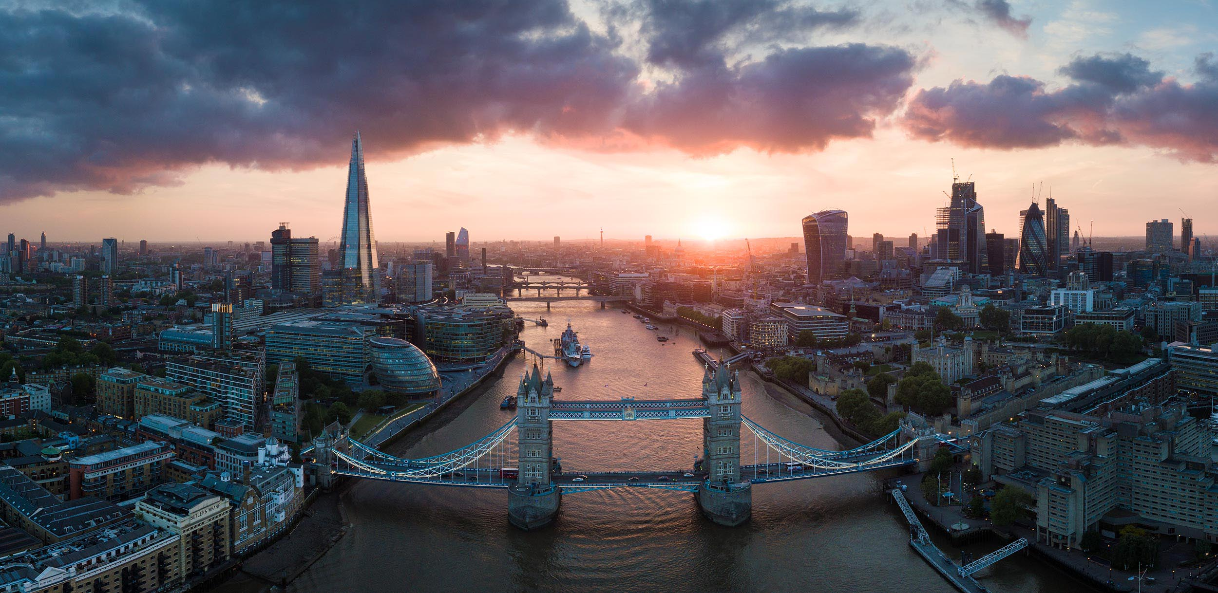 river-thames-tower-bridge-sunset-london-aerial-photography